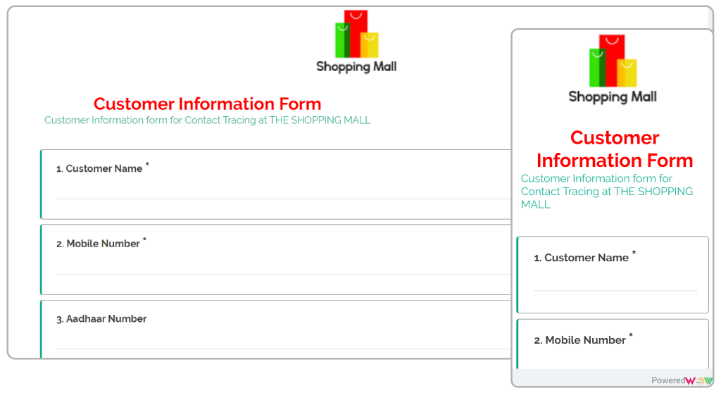 WovVXM Customer InformatioN Form